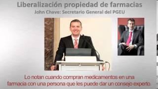Agustín López-Santiago entrevista a John Chave sobre la liberalización de farmacias