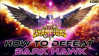 How to defeat DARK HAWK (Uncollected) Fully Breakdown - Marvel Contest of Champions