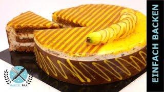Moderne Bananen Schokoladen Mousse Torte
