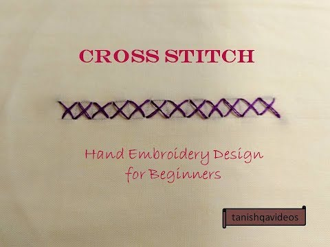 Cross Stitch | Basic Hand Embroidery Design for Beginners | Cross Stitch Hand Embroidery Design
