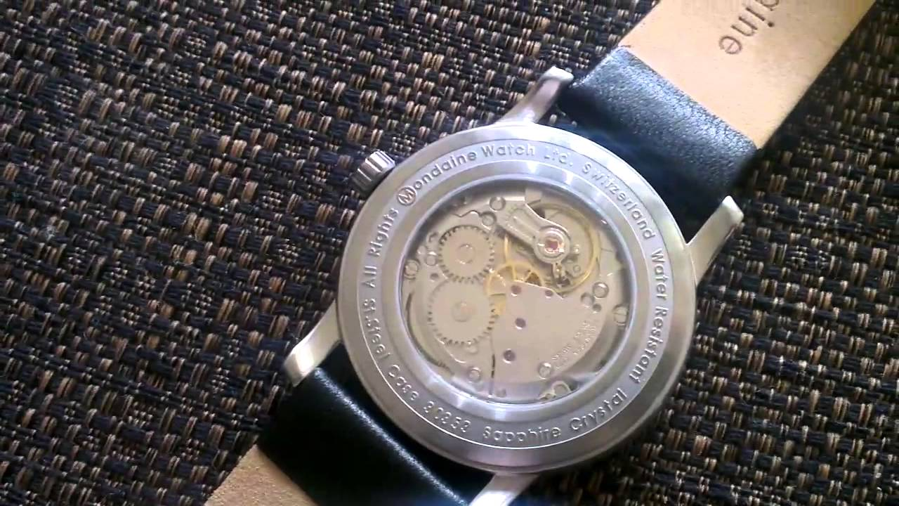 Mondaine vintage limited edition hand wound watch - YouTube 7c4de7900a