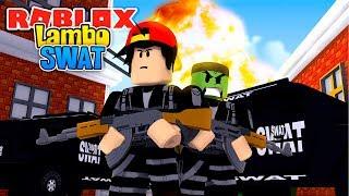 ROBLOX - LA FUERZA DE POLICIA LAMBO-SWAT EN JAIL BREAK!!!