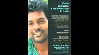 Caste Exclusion in Indian Universities - Seminar at Yale University, USA | March 4, 2016