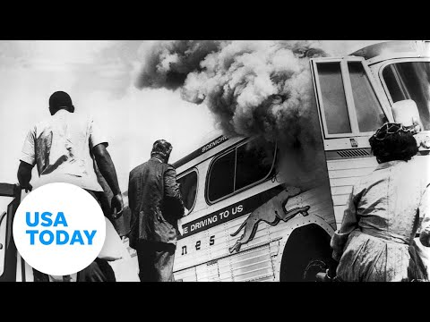 White supremacists burned down a Freedom Riders bus in 1961   USA TODAY