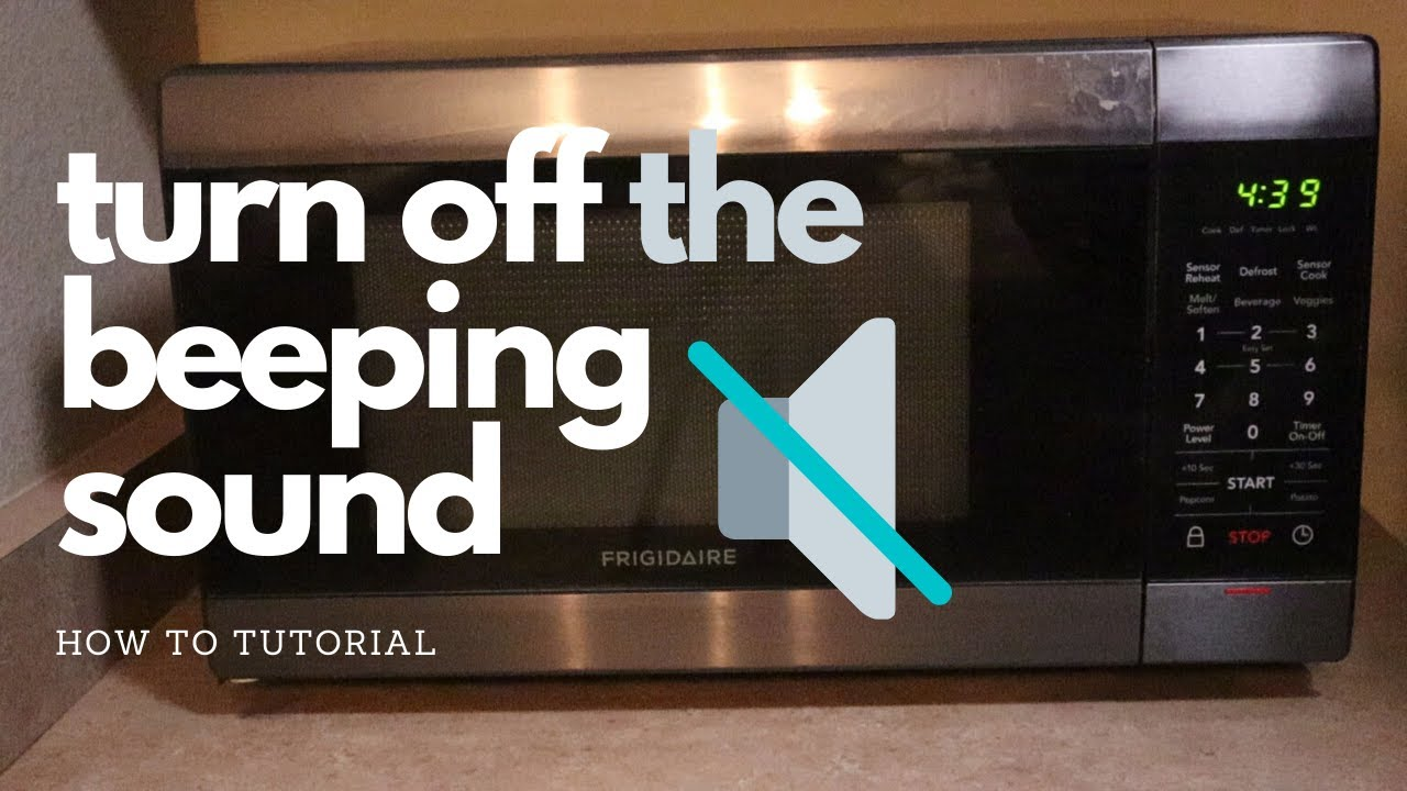 how to turn off the beeping sound on a frigidaire microwave annoying loud beeping noise