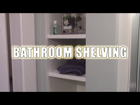 Simple Shelving for my Built-in Bathroom Storage