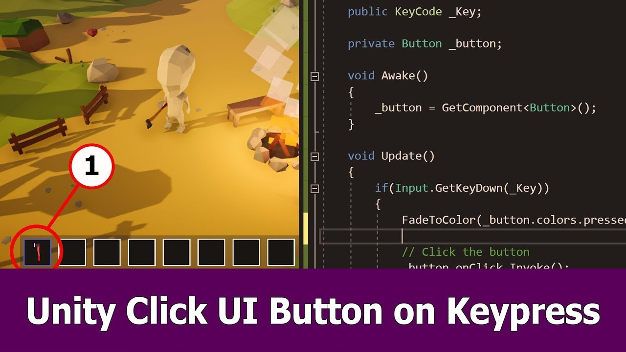 Unity UI Button Click on Keypress