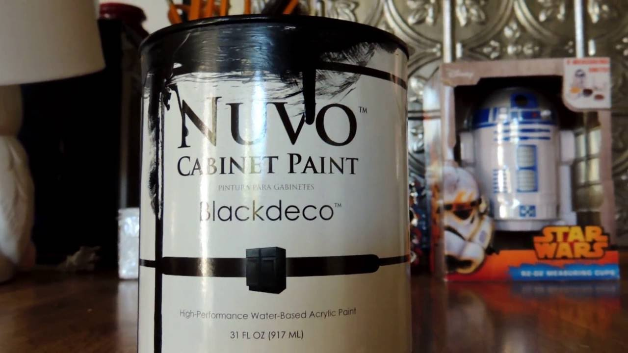 Nuvo Cabinet Paint Reviews Nuvo Black Cabinet Paint Review Part 1 Youtube