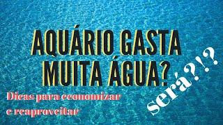 Dicas De ECONOMIA Para Aquário - Consumo De água - Fácil De Fazer!