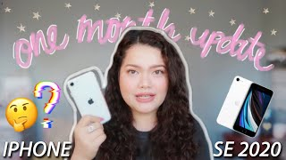 IPHONE SE 2020 (Pros + Cons) ONE MONTH UPDATE | trinakaye