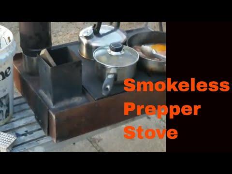 2019  prototype of Rocket Cook Stove- Amazing Versatility! part 1