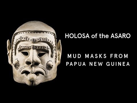 Asaro Mud Men bring their Holosa masks to the Australian Museum