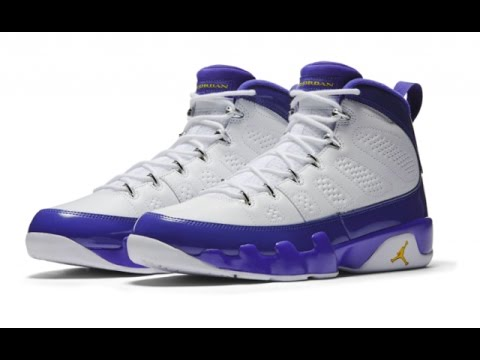 Limited edition Nike Air Jordan retro 9( IX Kobe ) White/Concord/Tour  Yellow Unboxing and review. LOOKING AT TOYS