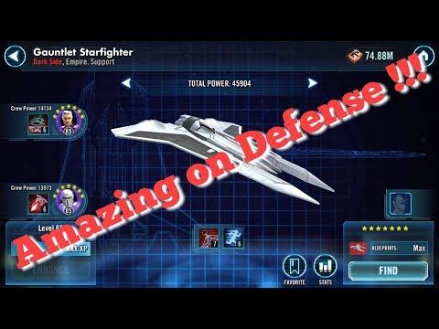Gauntlet Starfighter In Depth Review  star wars galaxy of heroes swgoh