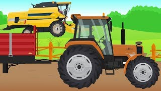 Orange Tractor and Yellow Combine Harvester |  Formation and uses | Traktor I Kombajn Żniwa