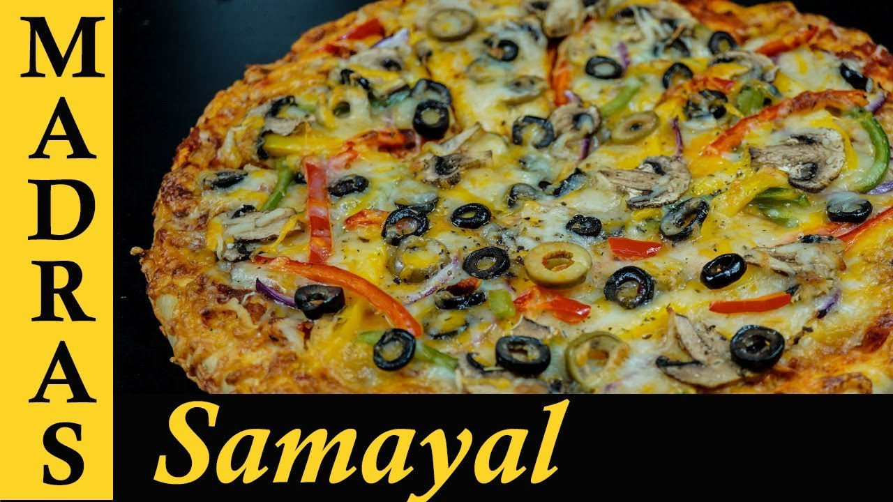 Pizza Recipe In Tamil Homemade Veg Without Oven