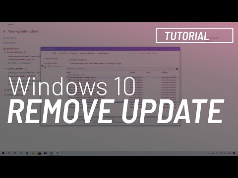 Windows 10 tutorial: Uninstall November 2019 Update, version 1909 from version 1903 thumbnail