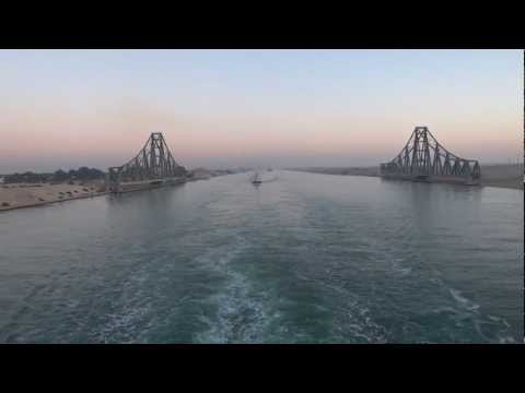 Suez Canal, Egypt - Southbound passage through the Suez Canal HD (2013)