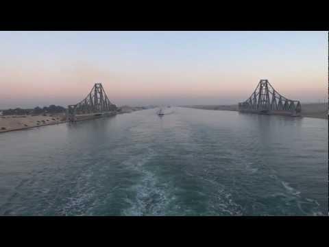 Suez Canal, Egypt - Southbound passage through the Suez Canal HD (2013)