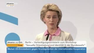 Bundeswehr: Ursula von der Leyen zur Chancengleichheit sexueller Minderheiten am 31.01.2017