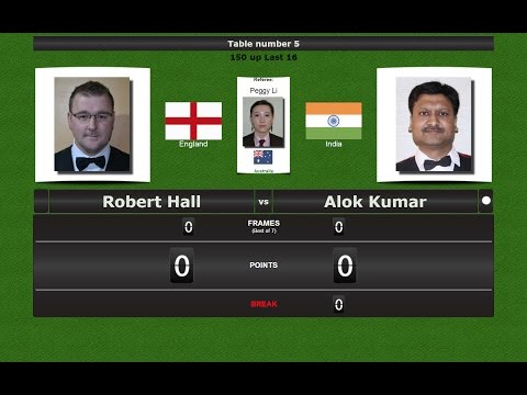 Billiards 150 up Last 16 : Robert Hall vs Alok Kumar