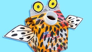 Cardboard Craft for Kids - Owl | Box Minis on Box Yourself