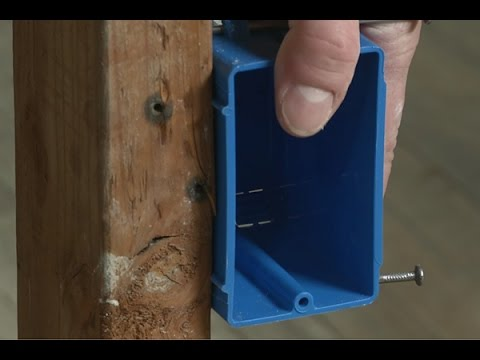 how to install an electrical outlet box youtube rh youtube com installing an electrical outlet box installing an electrical outlet box in drywall