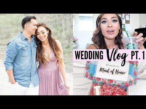 Wedding Vlog Pt. 1   Intimate Wedding Prep (Bridesmaid Proposal, Cake Tasting, Engagement Photos)