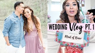 Wedding Vlog Pt. 1 | Planning a Small Wedding (Bridesmaid Proposal, Cake Tasting, Engagement Photos)