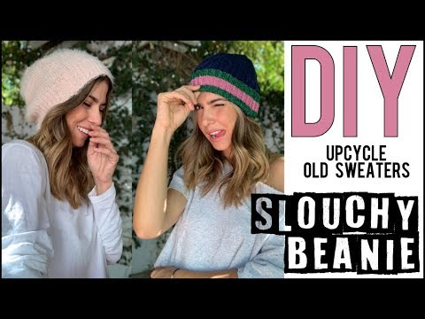 711e82e76b8 DIY  How to Make a BEANIE Hat!!  Slouchy or Fitted  - by Orly Shani ...
