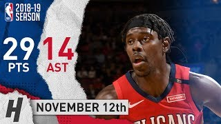 Jrue Holiday Full Highlights Pelicans vs Raptors 2018.11.12 - 29 Pts, 14 Ast, 3 Rebounds!
