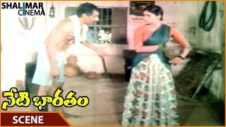 Neti Bharatam Movie    Kasthuri Angry On Narayana For Drunking    Vijayashanti    Shalimarcinema