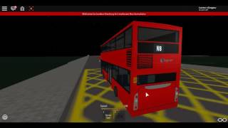 Roblox London Hackney & Limehouse bus Simulator Scania Omnicity DD SLN First Night bus on Route N8