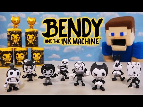 Bendy and the Ink Machine Bacon Soup Can Mini Figures Set Unboxing