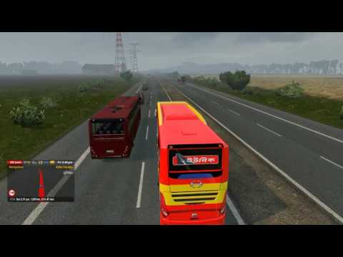 Euro truck Simulator 2 :  Long trip with relaxing Piano musi