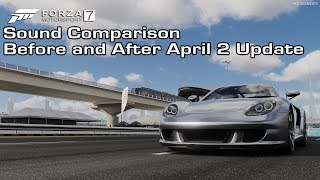 Forza Motorsport 7 - Porsche Carrera GT Sound Comparison - Before and After April 2 Update