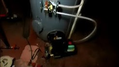 bock oil fired 40 gallon hot water heater,goes for a swim