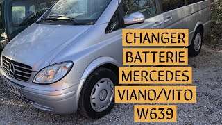 ⚠️Changer Batterie Mercedes Vito (Viano) Mercedes /Take off Battery Mercedes Viano