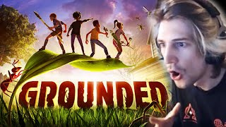 GROUNDED - A New Survival Game | xQcOW Gameplay