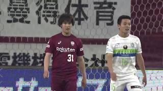 神戸が右サイドから攻勢をかけると、最後はゴール前でレアンドロ(神戸...
