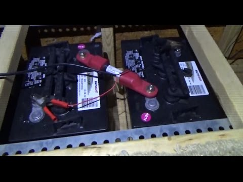 Setting Up Golf Cart Batteries In The Off Grid RV