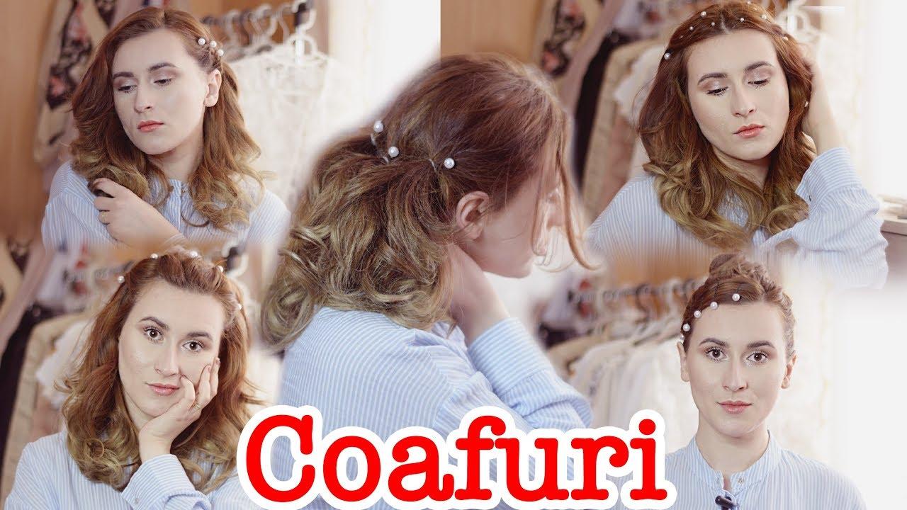 5 Coafuri Elegante Cu Perle Pentru Par Mediulung Youtube