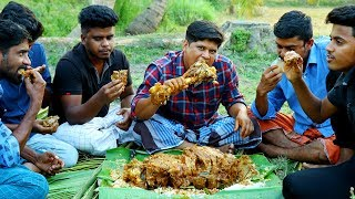 Beef Leg Piece Gravy   Cooking Skill Beef Curry - Eating Delicious   Village  Food Channel