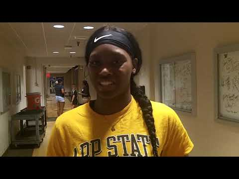 Interview  with Mariah Frazier, from Dudley High School, at the 2021 NCCA East-West All-Stars Games.