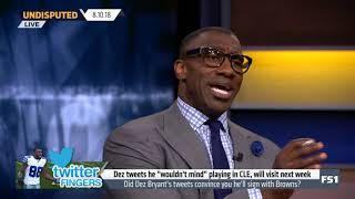 Did Dez Bryant's tweets convince you he'll sign wiht Browns? |  Undisputed 08/10/2018