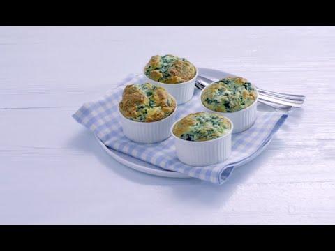 Spinaziesoufflé met blauwaderkaas - Allerhande