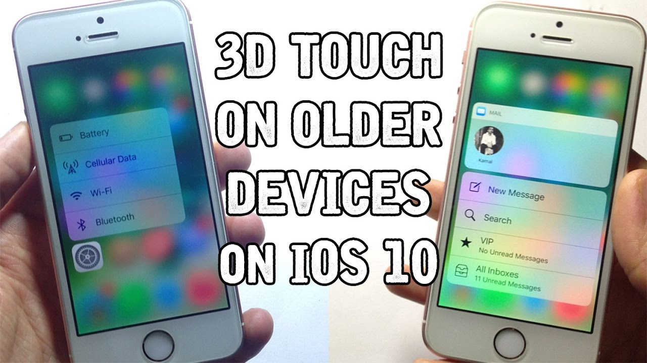 does ios 9 have 3d touch