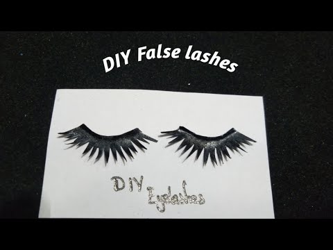 DIY False eyelashes // paper lashes