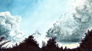 How To Draw Sky / Come Disegnare il Cielo - Speed Drawing - Time Laps