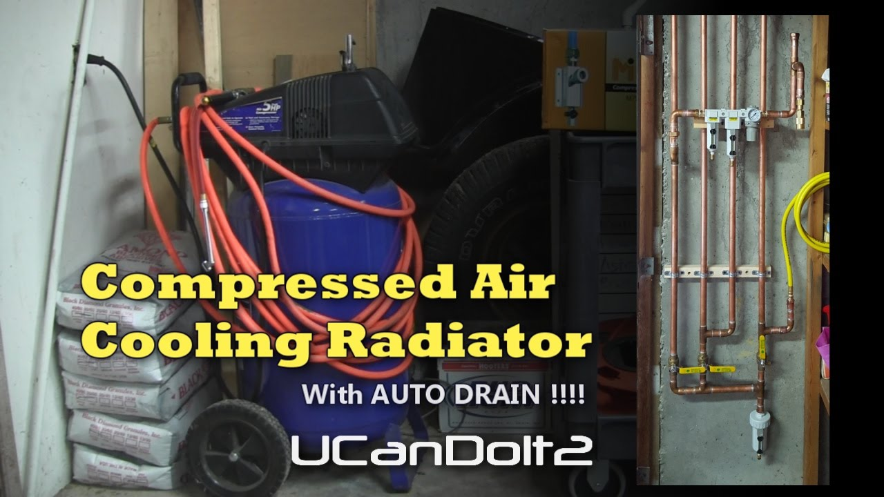 How To Make Compressed Air Dryer With Auto Drain Youtube